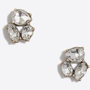 NWT J Crew Crystal Trio Earrings